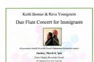 Keith Bonner and Reva Youngstein Benefit Concert for Sojourners Immigration Program
